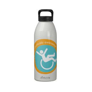 I {corazón} el crónico impresionante botellas de agua reutilizables