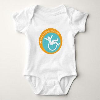 I {corazón} el crónico impresionante mameluco de bebé