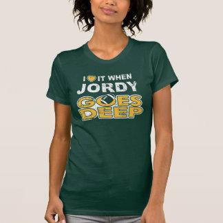 I corazón él cuando va Jordy profundamente Camiseta