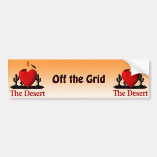I corazón el desierto pegatina para coche