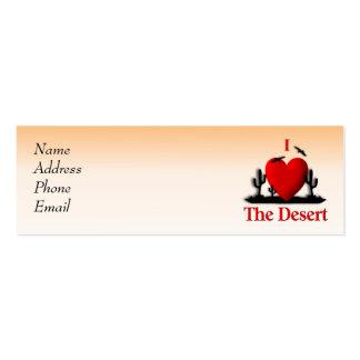 I corazón el desierto plantilla de tarjeta de negocio