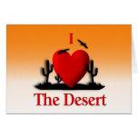 I corazón el desierto tarjeton