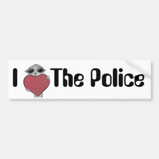 I corazón el extranjero de la policía pegatina para auto