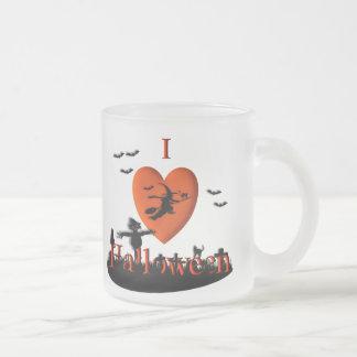 I corazón el Halloween Taza