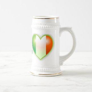 I corazón el irlandés jarra de cerveza