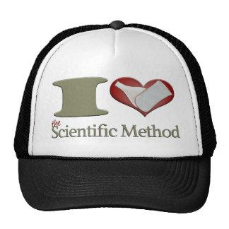 I corazón el método científico gorros bordados