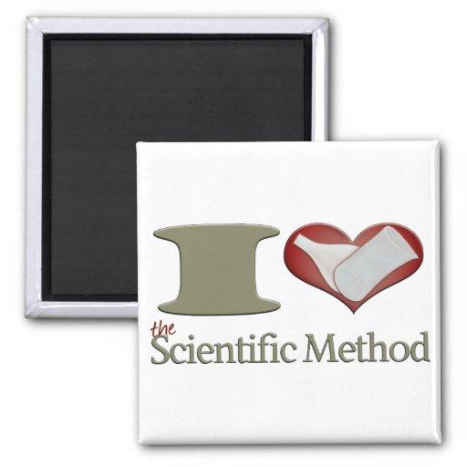 I corazón el método científico imán cuadrado