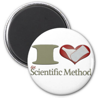 I corazón el método científico imán redondo 5 cm
