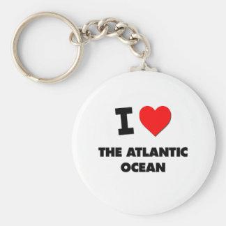 I corazón el Océano Atlántico Llavero Redondo Tipo Pin