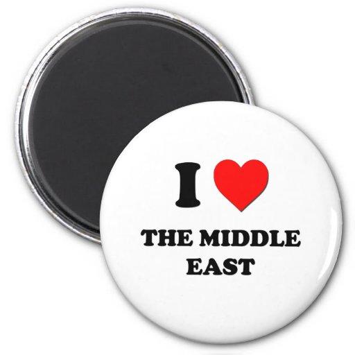 I corazón el Oriente Medio Imán Redondo 5 Cm