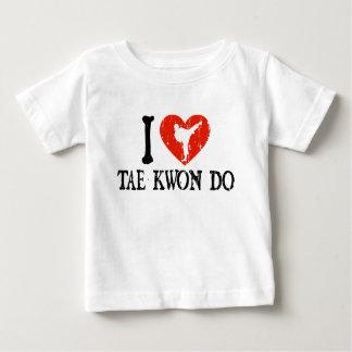 I corazón el Taekwondo - chica Playera De Bebé