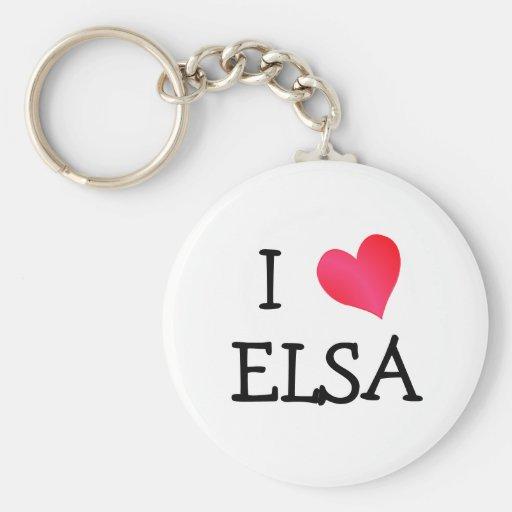 I corazón Elsa Llaveros