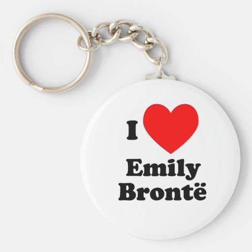 I corazón Emily Bronte Llavero Personalizado