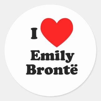 I corazón Emily Bronte Pegatina Redonda