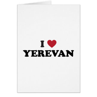 I corazón Ereván Armenia Tarjeta De Felicitación