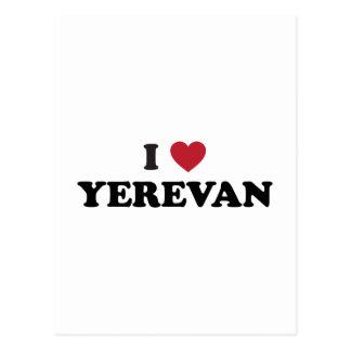 I corazón Ereván Armenia Tarjeta Postal