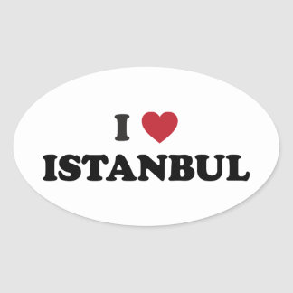 I corazón Estambul Turquía Colcomanias Ovaladas