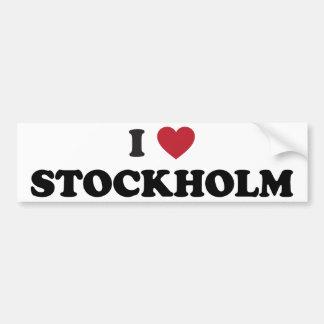 I corazón Estocolmo Suecia Pegatina De Parachoque