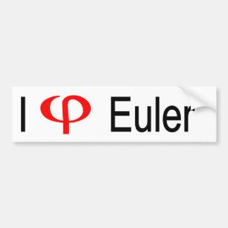 I corazón Euler Etiqueta De Parachoque