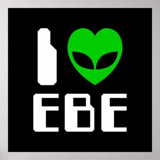 I corazón extranjero EBE Póster