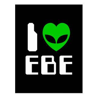 I corazón extranjero EBE Tarjetas Postales