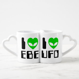 I corazón extranjero EBE/UFO Set De Tazas De Café