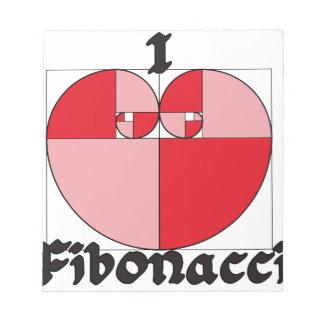 ¡I corazón Fibonacci! Libreta Para Notas