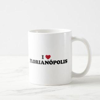 I corazón Florianopolis el Brasil Taza Clásica
