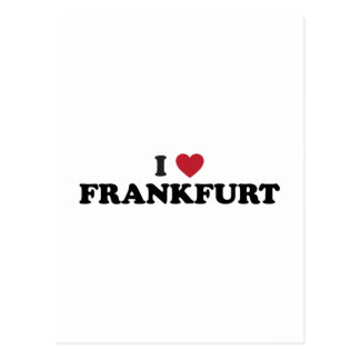 I corazón Francfort Alemania Tarjetas Postales