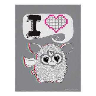 I corazón Furby Posters