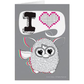 I corazón Furby Tarjeta De Felicitación