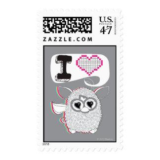 I corazón Furby Timbres Postales