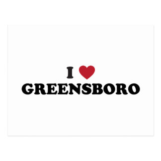 I corazón Greensboro Carolina del Norte Postal