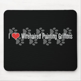 I (corazón) Griffons punteagudo Wirehaired Alfombrillas De Ratones