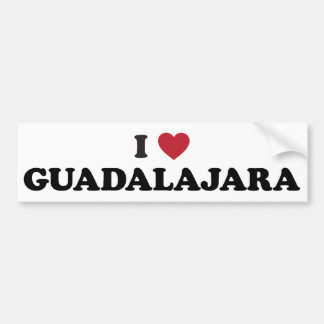 I corazón Guadalajara México Pegatina De Parachoque