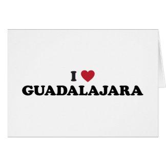I corazón Guadalajara México Felicitación