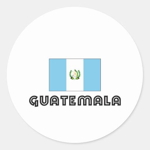 I CORAZÓN GUATEMALA PEGATINAS REDONDAS