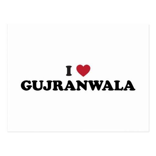 I corazón Gujranwala Paquistán Postales