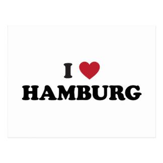 i corazón Hamburgo Alemania Postal