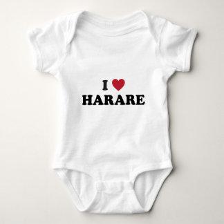 I corazón Harare Zimbabwe Body Para Bebé