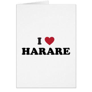 I corazón Harare Zimbabwe Tarjeta De Felicitación
