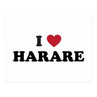 I corazón Harare Zimbabwe Tarjetas Postales