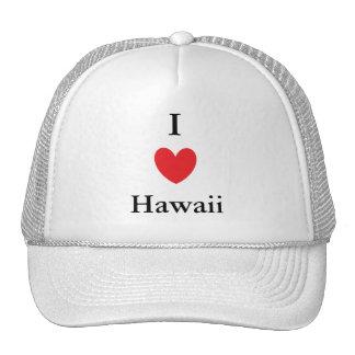 I corazón Hawaii Gorras De Camionero