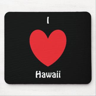I corazón Hawaii Mousepad Tapetes De Raton