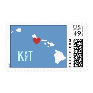 I corazón Hawaii - sello adaptable de la ciudad