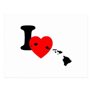 I corazón Hawaii Postal