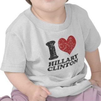 I corazón Hillary Clinton retra Camisetas