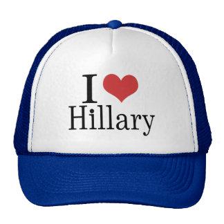 I corazón Hillary Gorras De Camionero