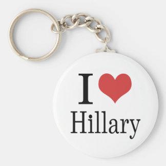 I corazón Hillary Llavero Redondo Tipo Pin
