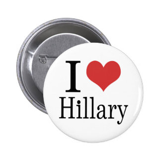 I corazón Hillary Pin Redondo De 2 Pulgadas